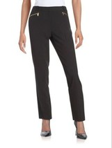 Calvin Klein Women's Straight Leg Zip Dress Pants, 2, Black - $45.00