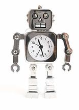 Design Link Robot Desk Alarm Clock Joint Motion AA Battery Operated