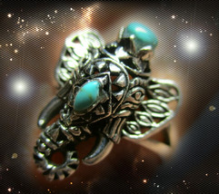 Haunted Exotic Elephant Ring Halloween God Of Extreme Luck Rare Albina Magick - $243.88