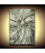 Gray fine art PRINT (no texture) on stretched canvas, ready to hang Larg... - $275.00