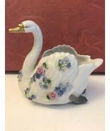 Swan figurine planter Von Schierholz Germany dresden porcelain 4497/3 - $19.80