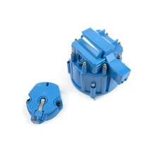 A-Team Performance CR8BL HEI OEM Distributor Cap, Rotor and, Coil Cover Kit Blue
