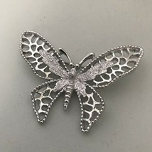 Sarah Coventry Silvertone Butterfly Brooch Pin J0263 - $14.24