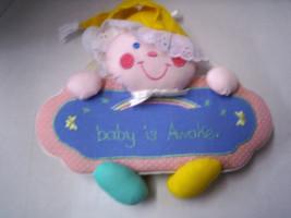 Door Hanger, Clown, Baby's Awake/Sleeping Anouncement, Pastels, New - $10.99