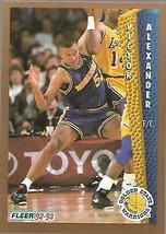 1992-93 FLEER NBA-#72-Victor Alexander-Warriors-Center - $3.94