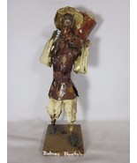Vintage Mexican Paper Mache Figure Peasant Bahios Huatulco Folk Art 13 I... - $29.69