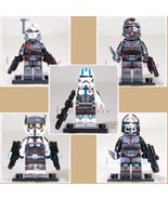 The BAD BATCH + Echo Star Wars Minifigure Set of 5 +Stands Clone Force 99 - $25.00
