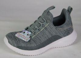 Skechers Jugend Mädchen Schuhe Sneaker Grau ohne Bügel Größe 10.5 image 9