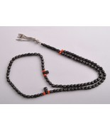 Antique black coral Makawy -worry beads-komboloi strand - $198.00
