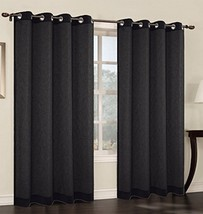 Urbanest 54-inch by 96-inch Faux Linen Sheer Set of 2 Curtain Panels with Gromme - $22.76