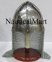 NauticalMart Battle Ready Viking Vendel Helmet Spectacle Helmet With Chainmail - $199.00