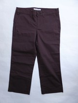 Tommy Hilfiger Brown Cropped Casual Pants Size 8 Women's Straight Fit RP $45 - $14.85