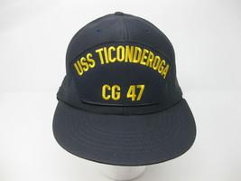Vintage USS Ticonderoga CG 47 Navy Baseball Cap Snapback Hat USA Made New - $29.69