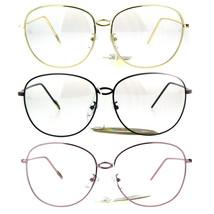 Womens Oversize Nerdy School Girl Metal Rim Retro Eyeglasses - $12.95
