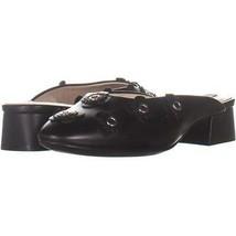 Cole Haan Laree Slide Pointed Toe Slip On Sandals 875, Floral Black Leat... - $50.87