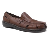 Naturalizer Gape Loafers Sandals Brown Leather Womens Size 8 - $23.38