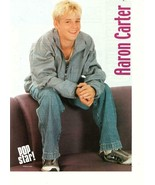 Aaron Carter teen magazine pinup clipping purple couch Pop Star Pop Idol - $3.50