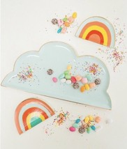 Oh Joy! Target Ceramic Rainbow Blue Gold Cloud Platter Serving Dish New ... - $32.39