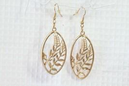 "Paparazzi Earrings (new) Gold Ovals w/ Center Design 2.75"" Drop - $7.61"
