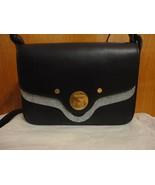 Coccinelle Clessidra Hourglass Lock Eggplant Box Purple Leather Shoulder... - $185.00