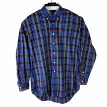 Ralph Lauren Mens Multicolor Plaid Long Sleeve Button Up Shirt Size Medium - $25.19