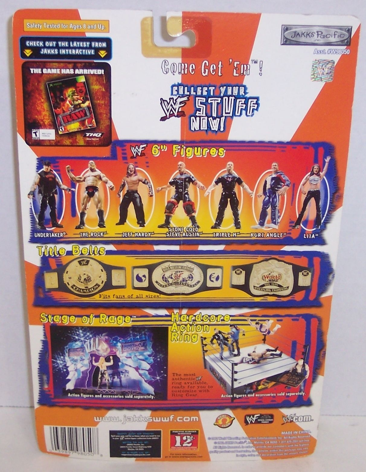"New! 2002 Jakk's Pacific Royal Rumble ""Tazz"" Action Figure WWF WWE [894]"