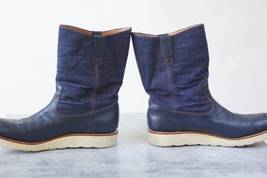 TENKUMARU pecos boots denim US 7.5 Made in Japan  image 3