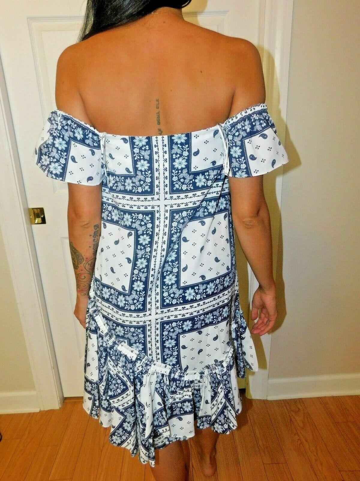Cinq à Sept - Minella Off-The-Shoulder Scarf-Print Dress - Size 2 NWT image 4
