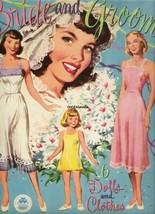 VINTAGE UNCUT 1949 BRIDE & GROOM PAPER DOLLS~#1 REPRODUCTION~FANTASTIC~N... - $18.99