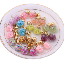 Jewelry Star Beads Earrings Girls Fashion Pierced Bijoux Stud Earrings Jewelry - $6.92