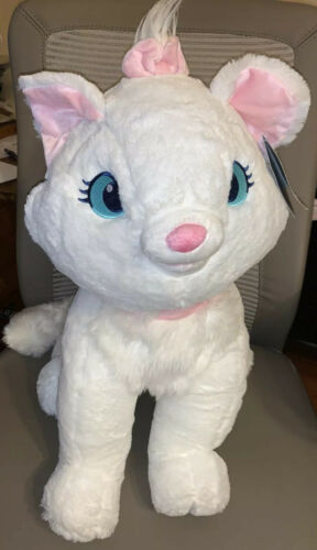 "Disney Store Marie Large Plush Aristocats White Cat 20"" Stuffed Animal NEW"