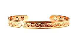 Copper Bracelet For Arthritis Magnetic Therapy (6 Embedded into internal... - $39.10