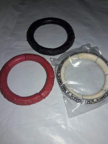 Avon 2007~ set of 3 Bead Stretch Bangle Bracelets
