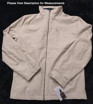 LONDON FOG Mens JACKET COAT SZ Small S Beige Full Zip Front  NWT NEW - $55.78