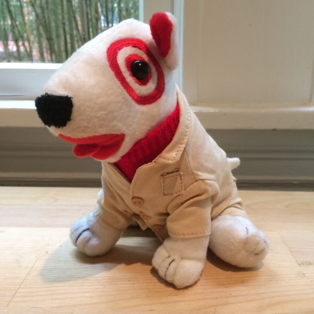 Target Safari Suit Khaki Dog Plush Stuffed Animal Bullseye Boys Girls