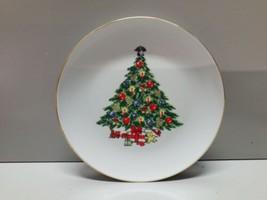 "Jamestown China Christmas Treasure 7 3/4"" Salad Plate - $4.94"