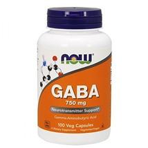 NOW GABA 750 mg, 100 Veg Capsules - $23.00