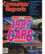 ORIGINAL Vintage 1987 Consumer Reports Magazine Cars Issue - $14.84