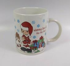 Precious Moments Wishing You a Ho Ho Ho Christmas Coffee Cup/Mug by Enesco - $14.85