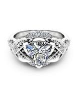 Trillion Cut Moissanite Engagement Ring Unique Trillion Moissanite Ring ... - £62.98 GBP