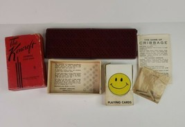 The Kencroft Vintage (1940's) Mini Cribbage Board Folding Travel Pocket ... - $23.33