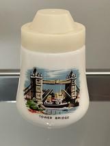 Pair of Vintage London Milk Glass Salt and Pepper Shakers image 4