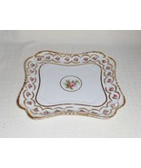 Limoges France Haviland GDA Pink Roses with Heavy Gold Gilt Decoration Tray - $43.00