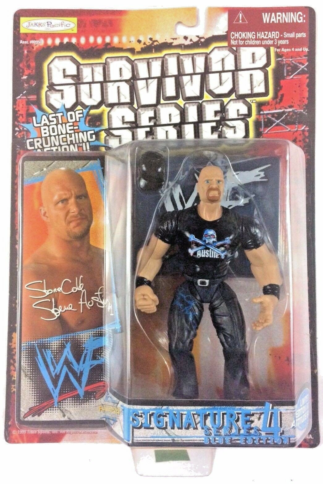 Stone Cold Steve Austin WWF WWE Jakks Action Figure Signature 4 1999 Sealed