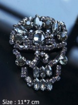 Rhinestones Skull Beaded Sequins Sew On Patches for clothes Tshirt,Sweat... - $4.50