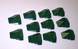11 Used LEGO 4x4 Exo-Force Dark Green Wedge Quadruple Convex Slope Cente... - $6.95