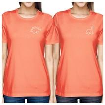 Dinosaurs BFF Matching Peach Shirts - $30.99+