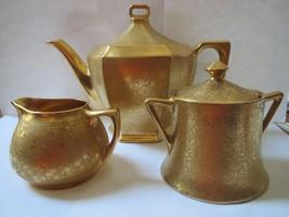 PICKARD GOLD PLATED TEA SET - MADE IN CZECHOSLOVAKIA - $125.00