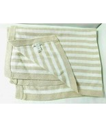 Pottery Barn Baby Kids Beige Stripes White Sweater Knit Baby Blanket 32x... - $36.58