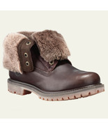 Women's Timberland AUTHENTICS SHEARLING FOLD-DOWN BOOTS, Dark Brown Size... - $189.95